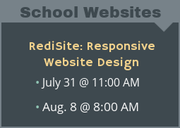 RediSite School Website Design and Hosting Product Demo