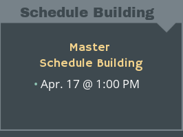 Master Schedule Building Product Demo