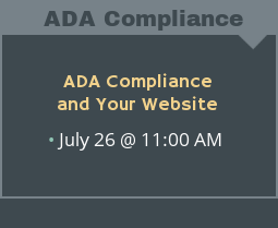 Rediker Webinar - ADA Compliance and Your Website